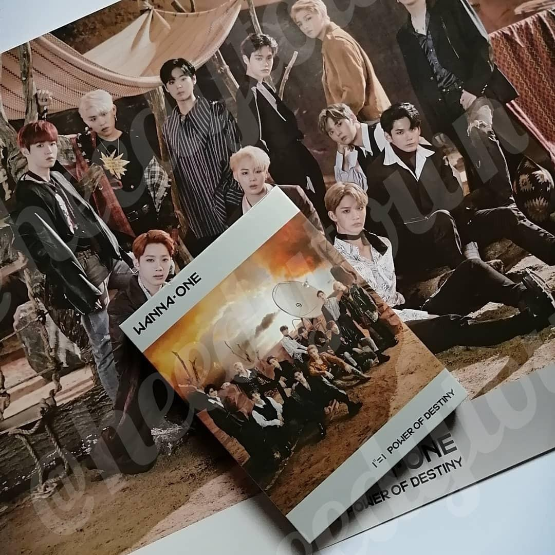 [PRE LOVED] WANNA ONE - POWER OF DESTINY (ADVENTURE VERSION) With Poster, HA SUNGWOON PC & BAE JINYOUNG Sleeve