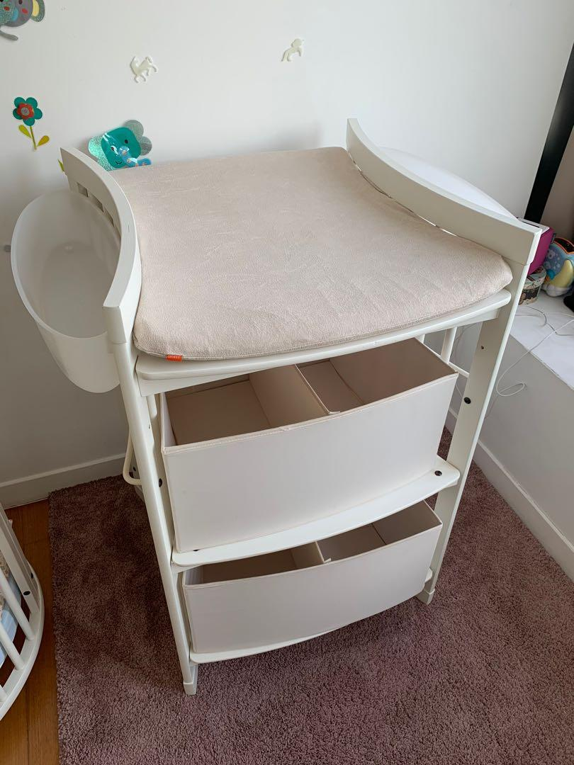 Stokke Changing Table White Babies Kids Cots Cribs On Carousell