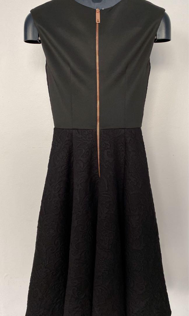 Ted Baker Black Work/ Cocktail Dress Size 1 (AUD 8)