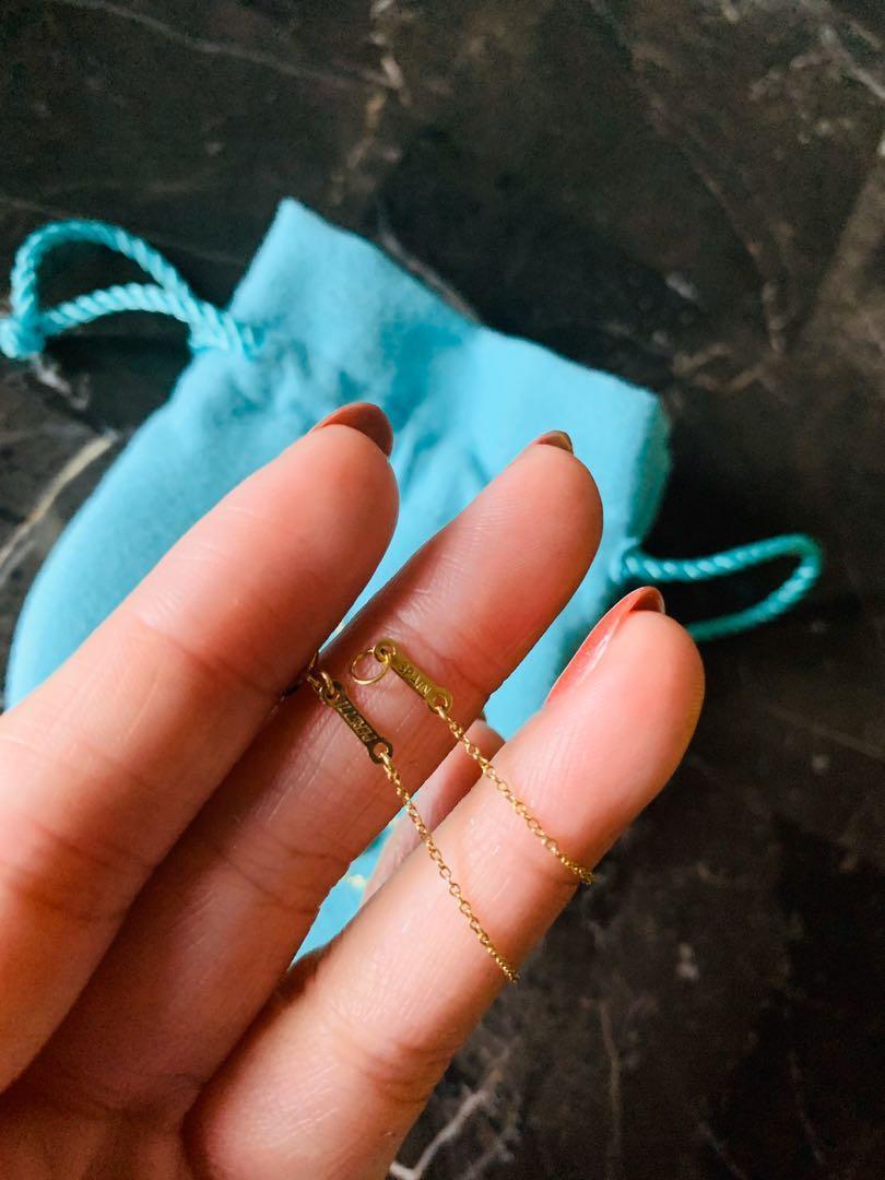Tiffany & Co. Elsa pretti teardrop 18K YG necklace