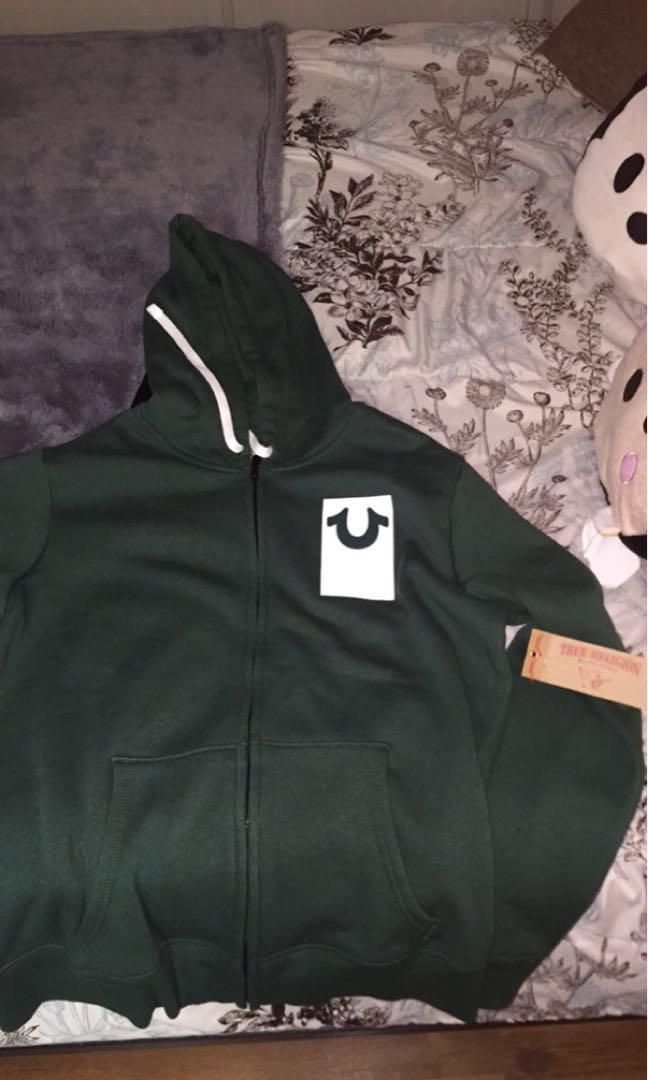 True religion Oakland green zip up XL fits like a Large