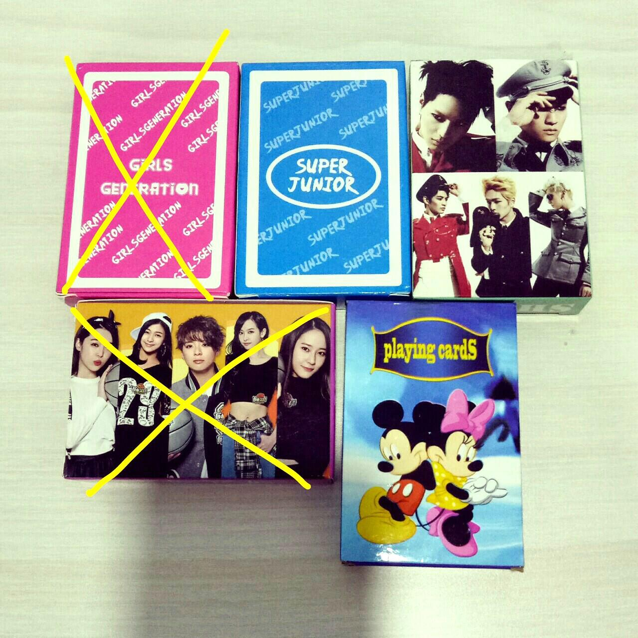 [WTS] KPOP POKER PLAYING CARD (SUPER JUNIOR/SNSD/SHINee/f(x)/Mickey Mouse)