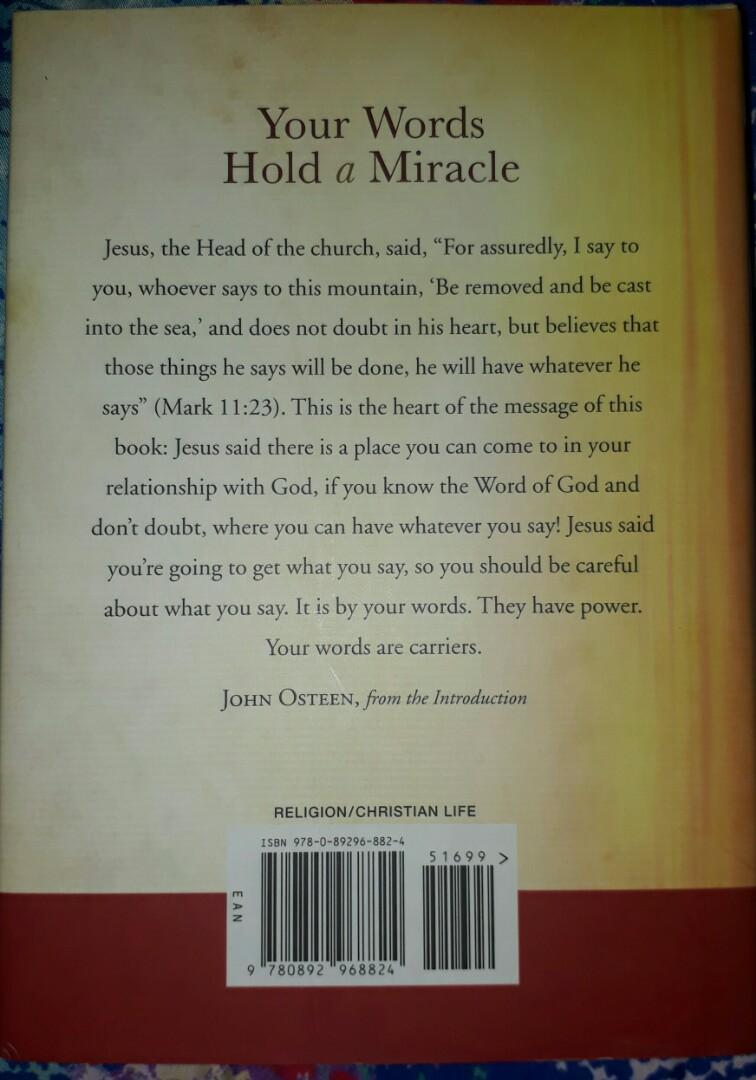 Your Words Hold a Miracle: The Power of Speaking God's Word by John Osteen