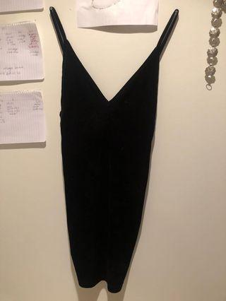 XS American apparel velvet dress