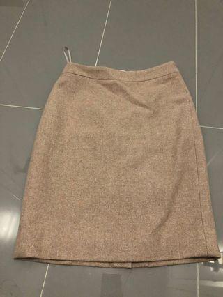 JCrew Light Camel Wool Pencil Skirt