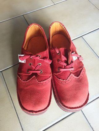🔴私物🔴solerbels 紅色 復古鞋 麂皮 手工鞋