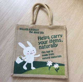 全新 馬莎 麻質袋 購物袋 Linen Shopping Bag