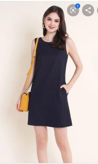 BNIB Neonmello Korisa Reversible Dress (Navy/Mustard)