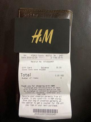 H&M $30 Gift Card