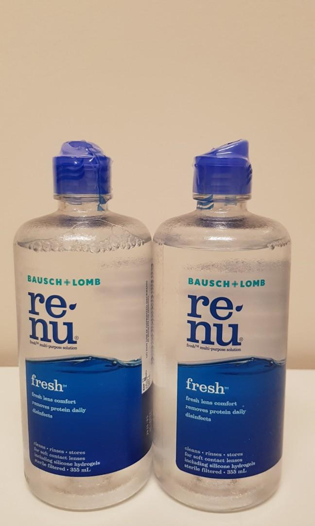 (2 for $15!!) Bausch + Lomb Renu Contact Lens Solution