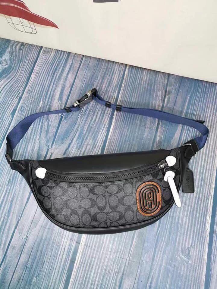 Authentic coach rivington belt Bag in signature canvas with coach patch