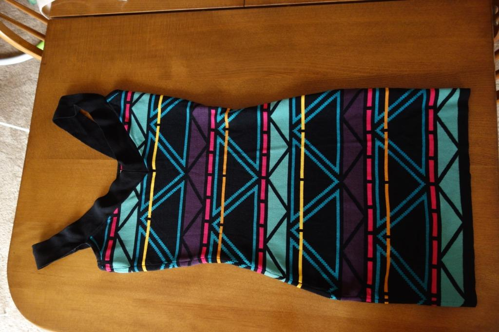 Blue and black party dress. Size small. Price Negotiable.