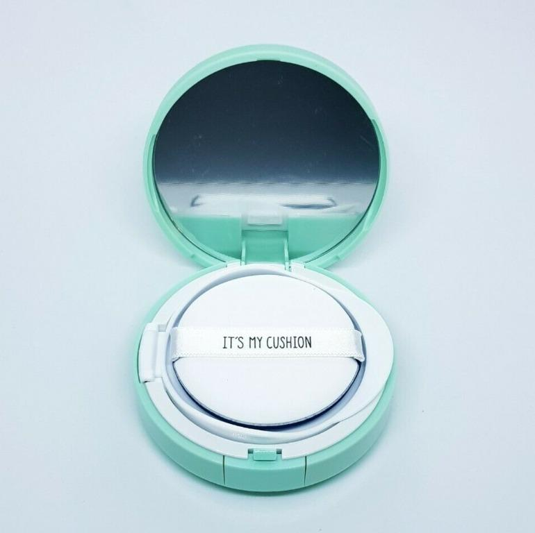 DIY BB Cushion Pact Cosmetic Case with Sponge + Puff