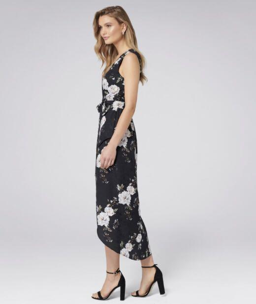 Forever new  Trinity Jacquard Wrap floral Maxi Dress