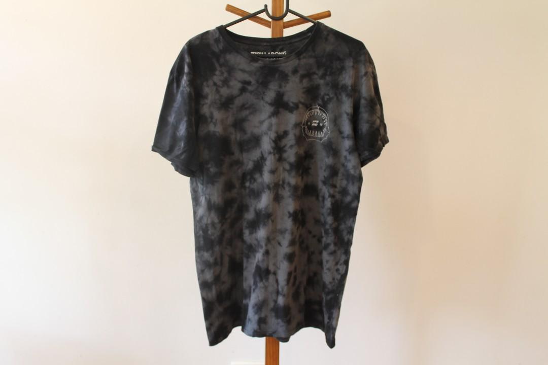 M - Billabong - Men's Charcoal Cotton Branded Tshirt/Top