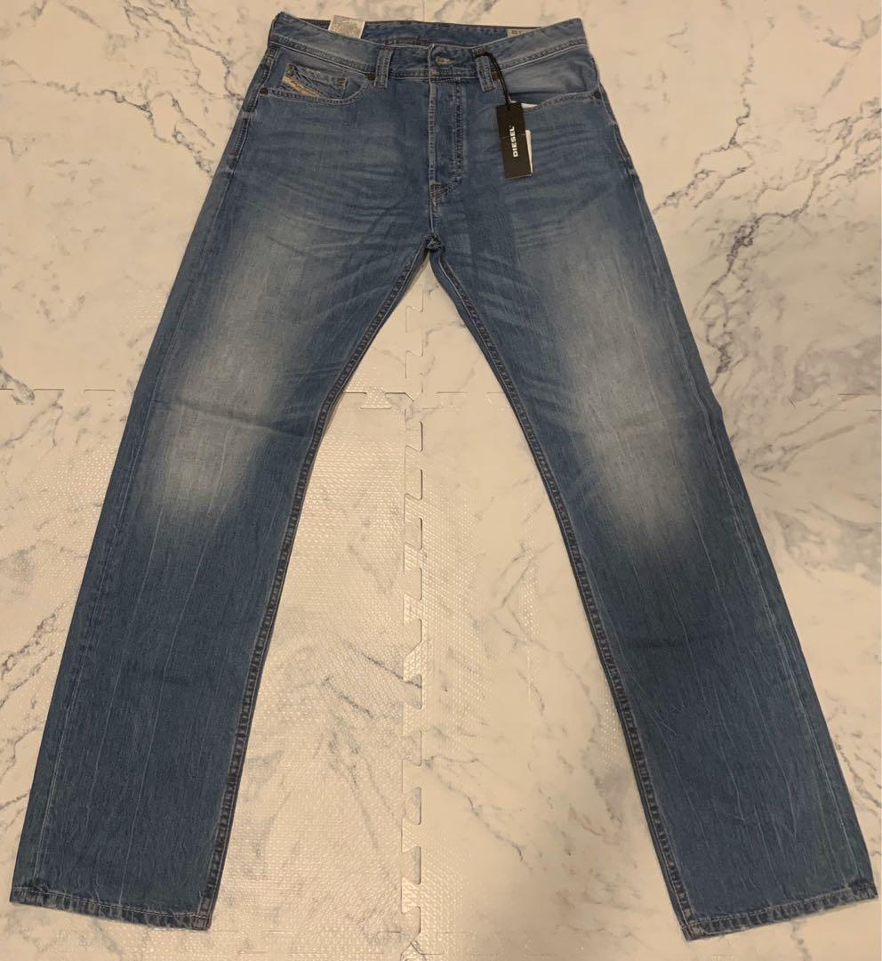 NWT Diesel Men's Relaxed Straight Jeans Button Fly 29x32