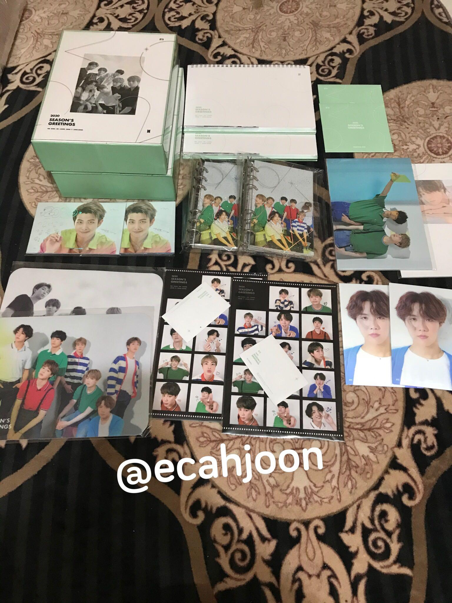 [READY STOCK] 2020 BTS SEASON'S GREETINGS (LOOSE SET)