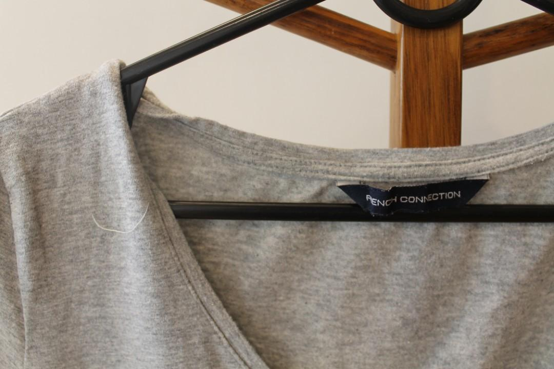 S - French Connection - Simple Light Grey Tshirt/Top