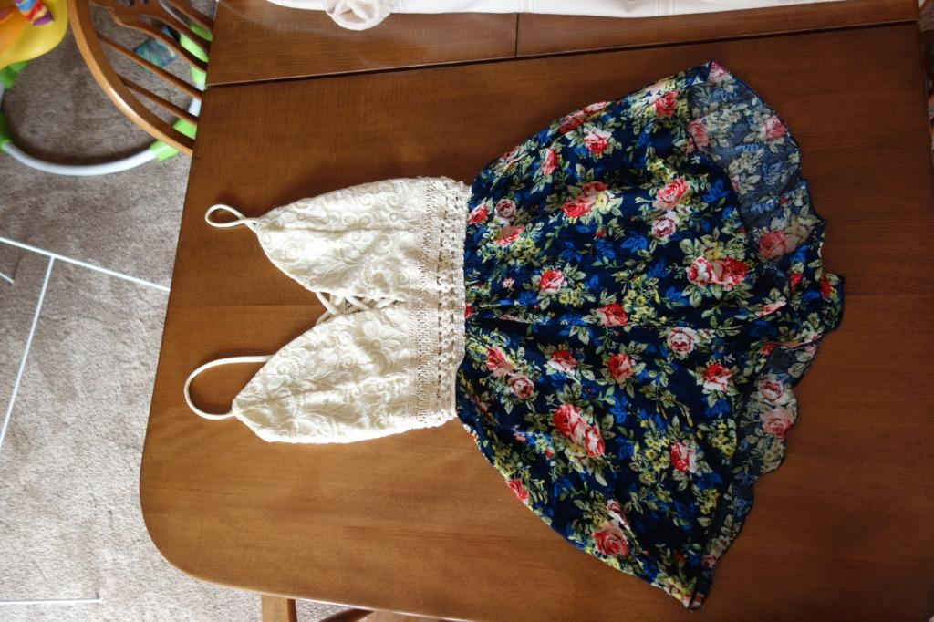 Summer floral and lace playsuit. size small. Price Negotiable.