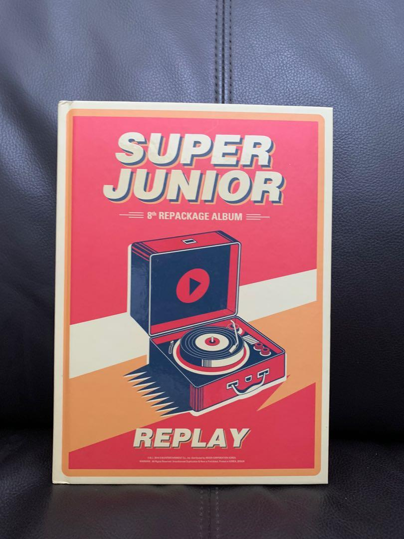 Super Junior 8th Repackage Album Replay with Leeteuk CD