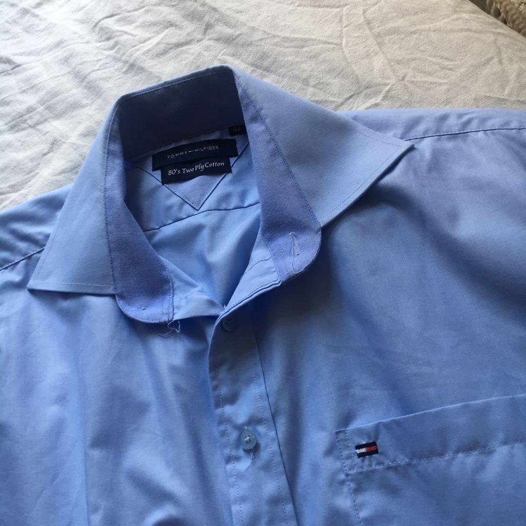 Tommy Hilfiger Pastel Blue Formal Button Down Shirt