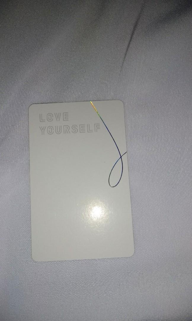 [WTS] BTS JHOPE PHOTOCARD FROM BTS ALBUM : LOVE YOURSELF : HER E VERSION