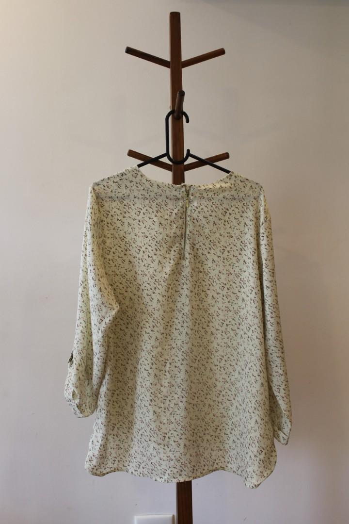 XXL - Fig - Gorgeous Lightweight Silky Detailed Shirt