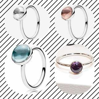 Authentic Pandora Silver Rings