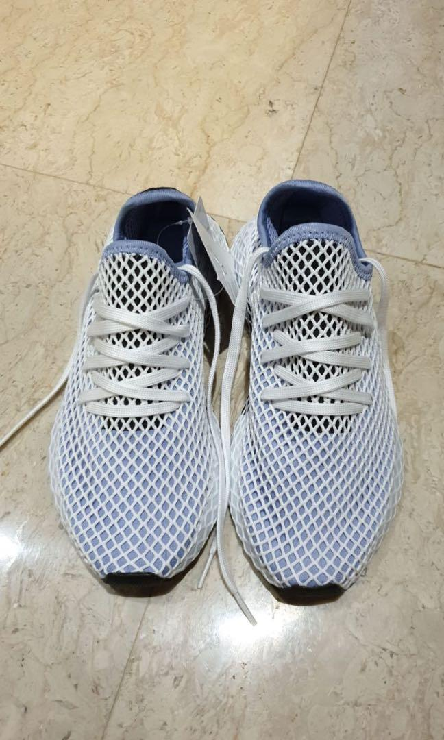 Adidas Deerupt Runner White / Blue UK 6