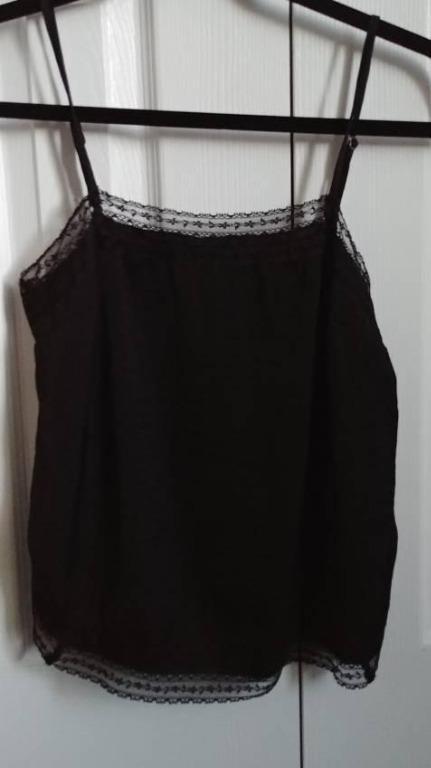 BNWT Abercrombie black straight neck lace camisole - Women's XS