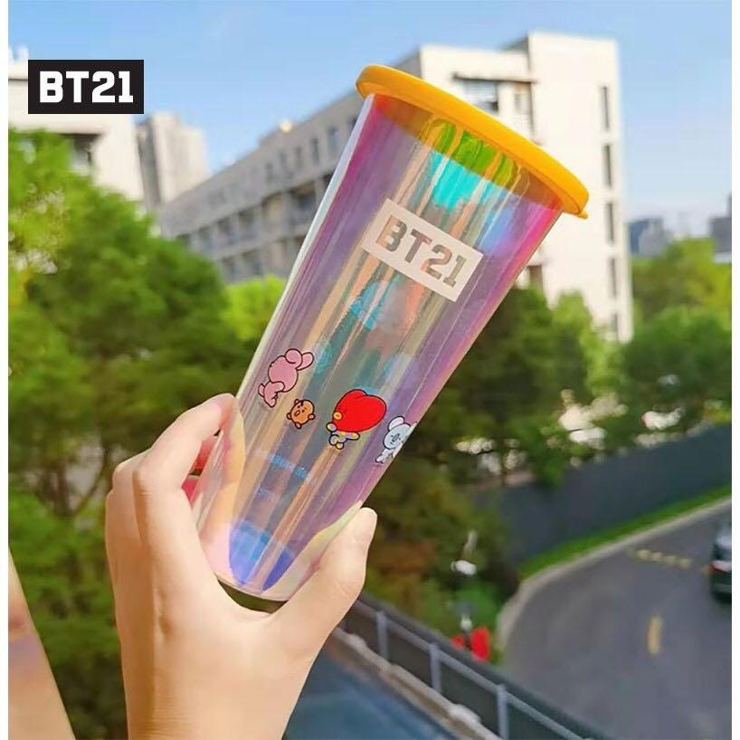 BT21 BTS Drinking Cup / Tumbler / Straw Cup / Bottle