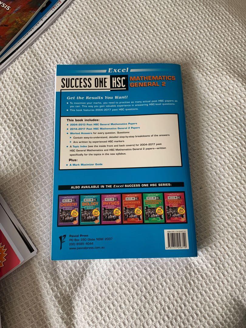 Excel Success One HSC Mathematics General 2 Textbook