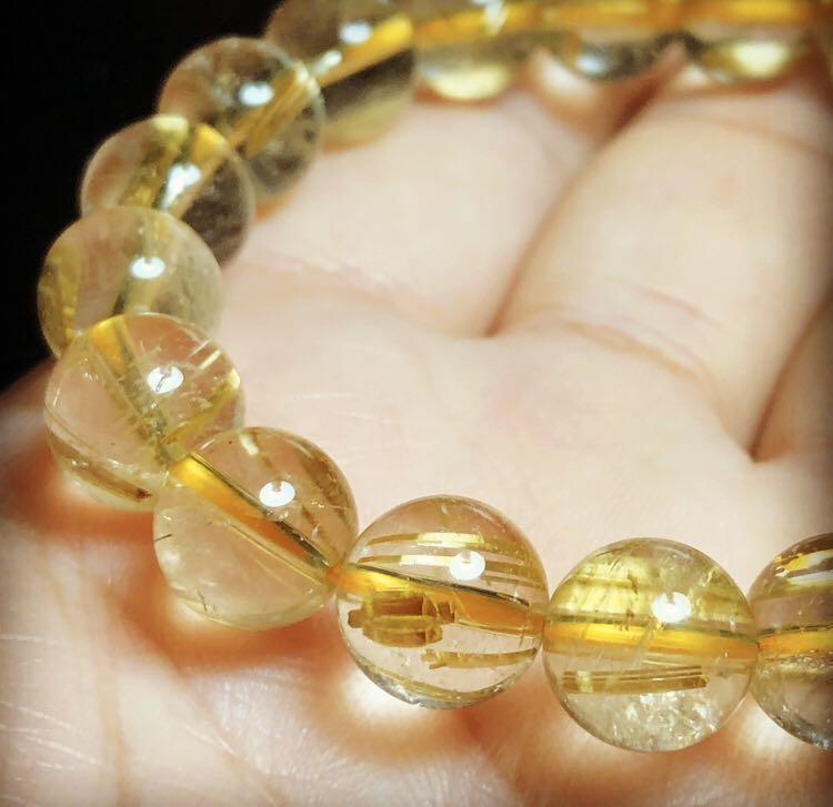 Golden Rutiled Quartz Natural Bracelet 10mm - Gelang Kristal Jarum Emas Asli