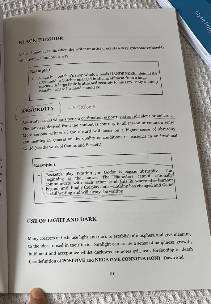 HSC English Textbook- Film and Literary Techniques Analysis