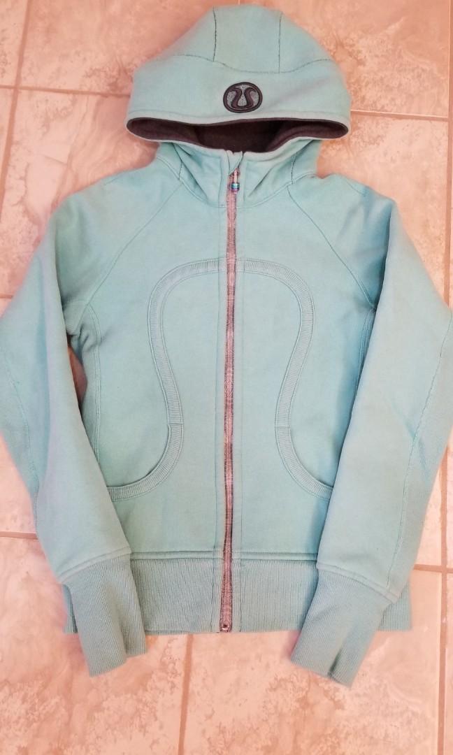Lululemon Tiffany Blue Scuba Hoodie Sweater - size 6