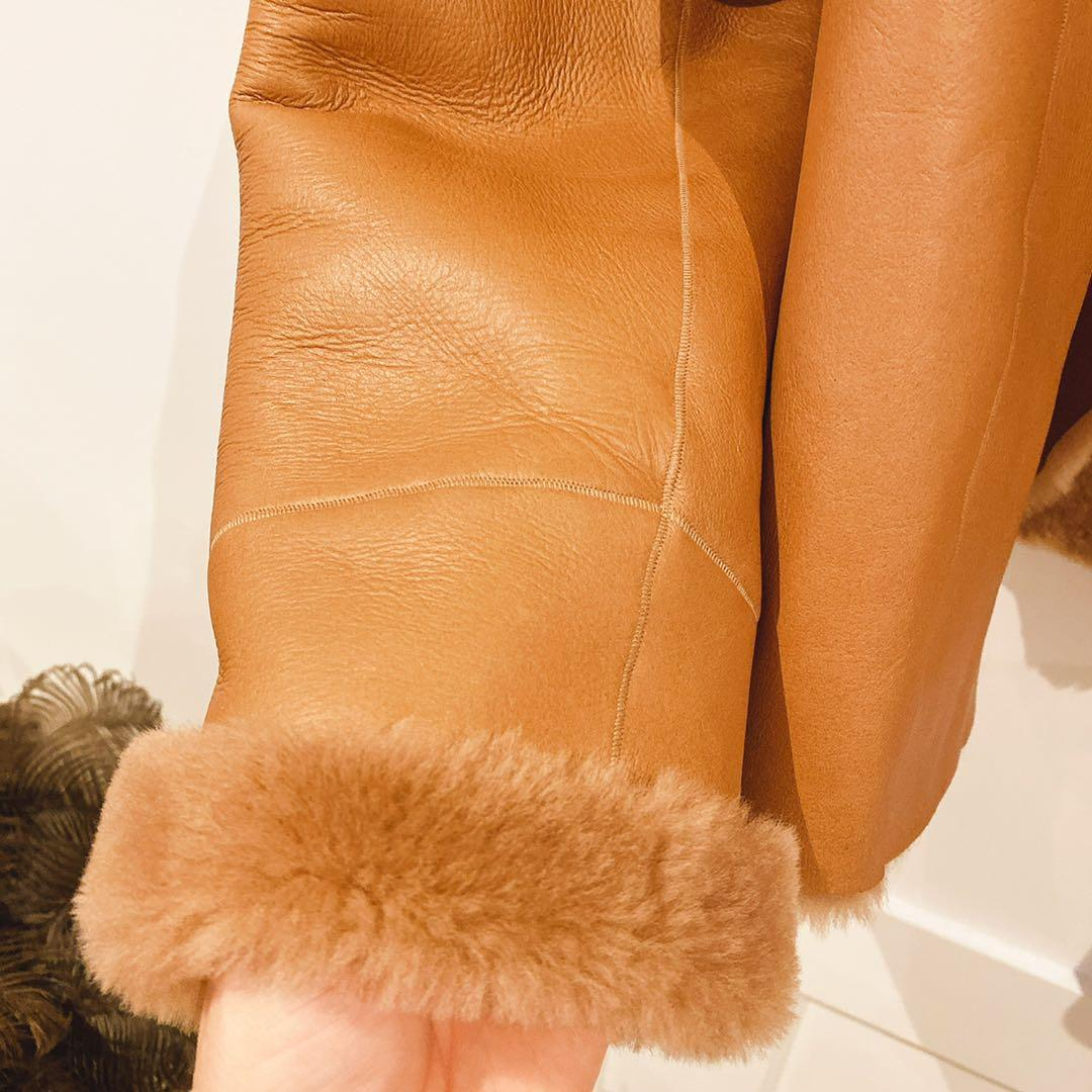 Max Mara Studio Cocco Short Sheepskin Fur Coat Size 8