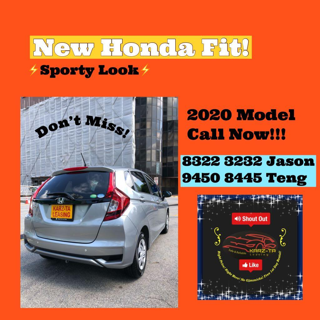 New 2020 Honda Fit! Promo Now! Lowest Price! Can Drive Go-Jek/Grab/Ryde! Flexible Rental Scheme! Personal User! Call Now!