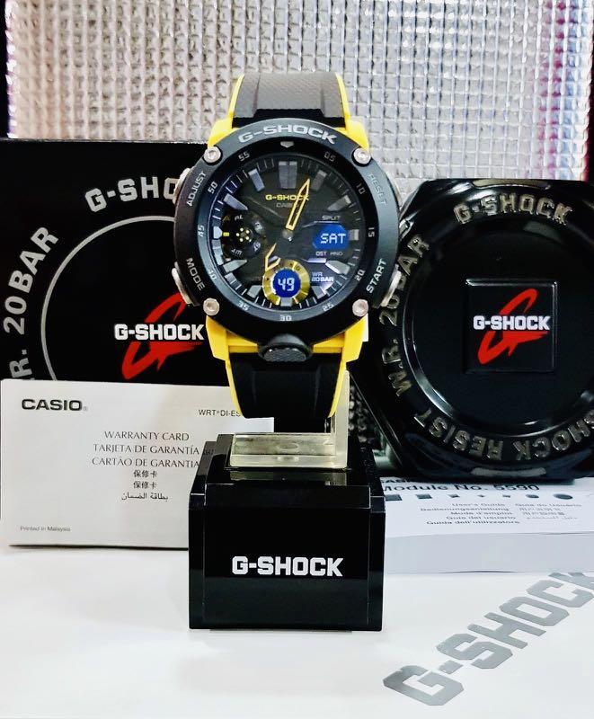 NEW🌟COUPLE💝SET : GSHOCK UNISEX DIVER SPORTS WATCH : 100% ORIGINAL AUTHENTIC CASIO G-SHOCK : GA-2000-1A9DR / GA-2000-1A9 / GA2000-1A9 / GA-2000S-1A (BUMBLEBEE🐝THEME)