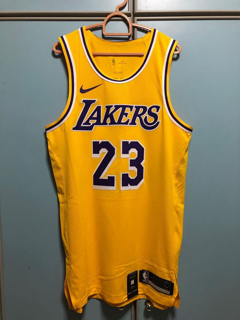 lakers lebron authentic jersey