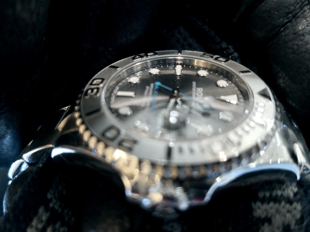 PREOWNED ROLEXYATCH MASTER 37, 268622,  ROLESIUM, Oystersteel and Platinum, 37mm, Alphanumeric Series @ Dated July 2018 Unisex Watch