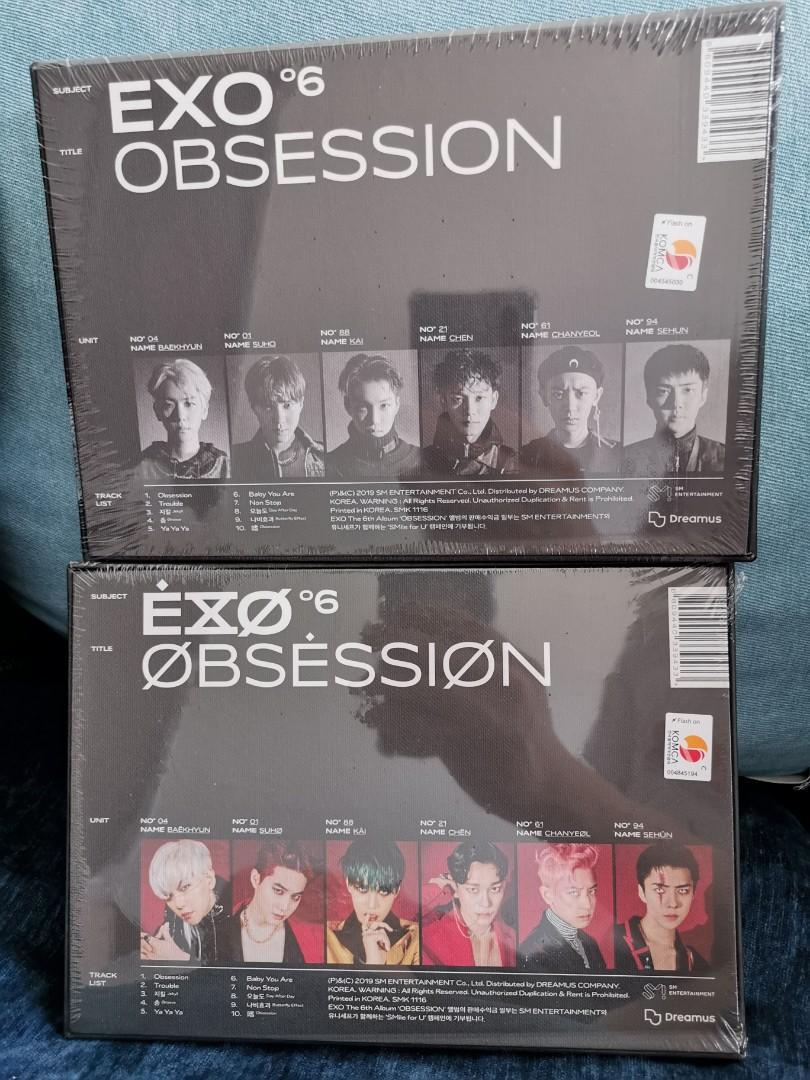 【READY STOCK】EXO OBSESSIOM EXO VER X-EXO VER SEALES
