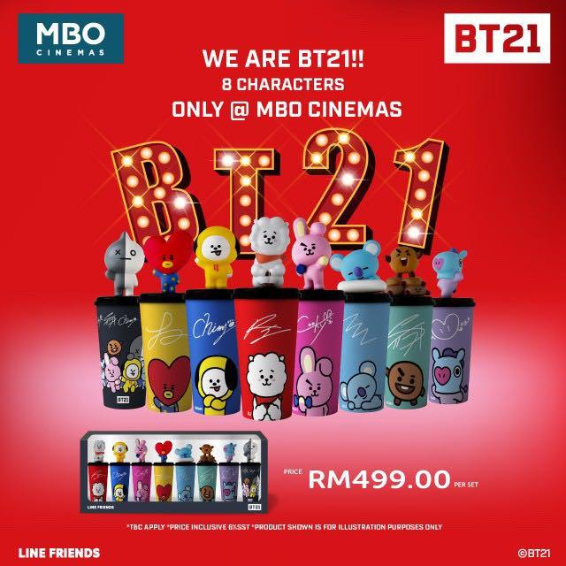 [READYSTOCK LOOSE] LIMITED EDITION BT21 MBO TUMBLER