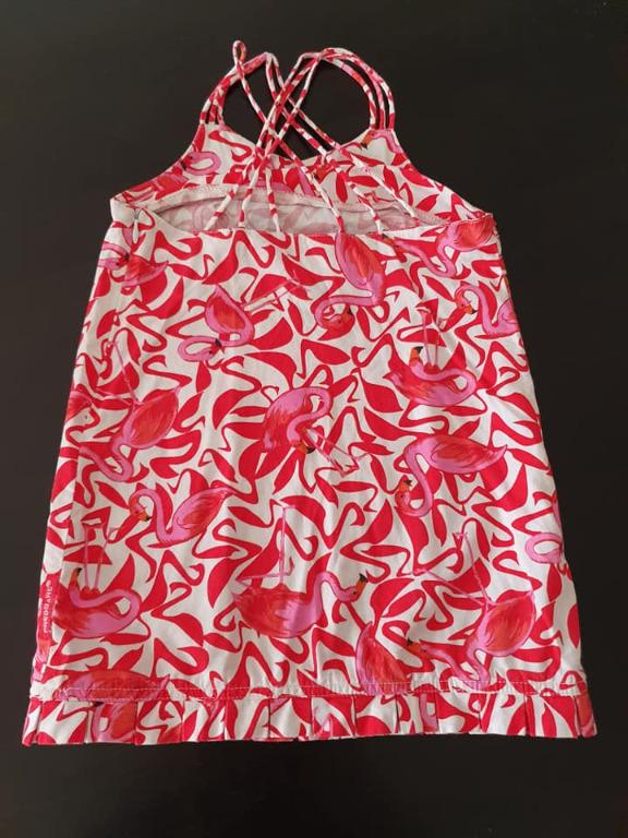 size 3 vgc fred bare flamingo dress with side zipper