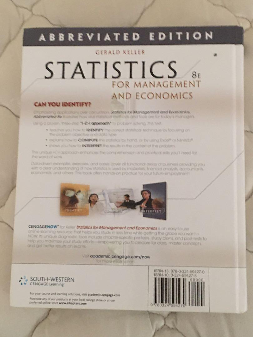 Statistics for management and economics 8th edition