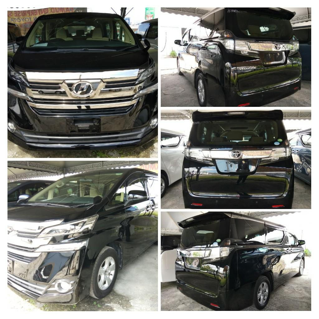 TOYOTA VELLFIRE 2.5 X SPEC RECON~2015 ON THE ROAD~PRICE RM175,888.88👍include Road tax fee 1year✔ 👍include Processing fee✔ 👍include insurance fee✔ Support~NCB55% 1year Insurance free☺✔HP0122367272SENGSENG☺🙏