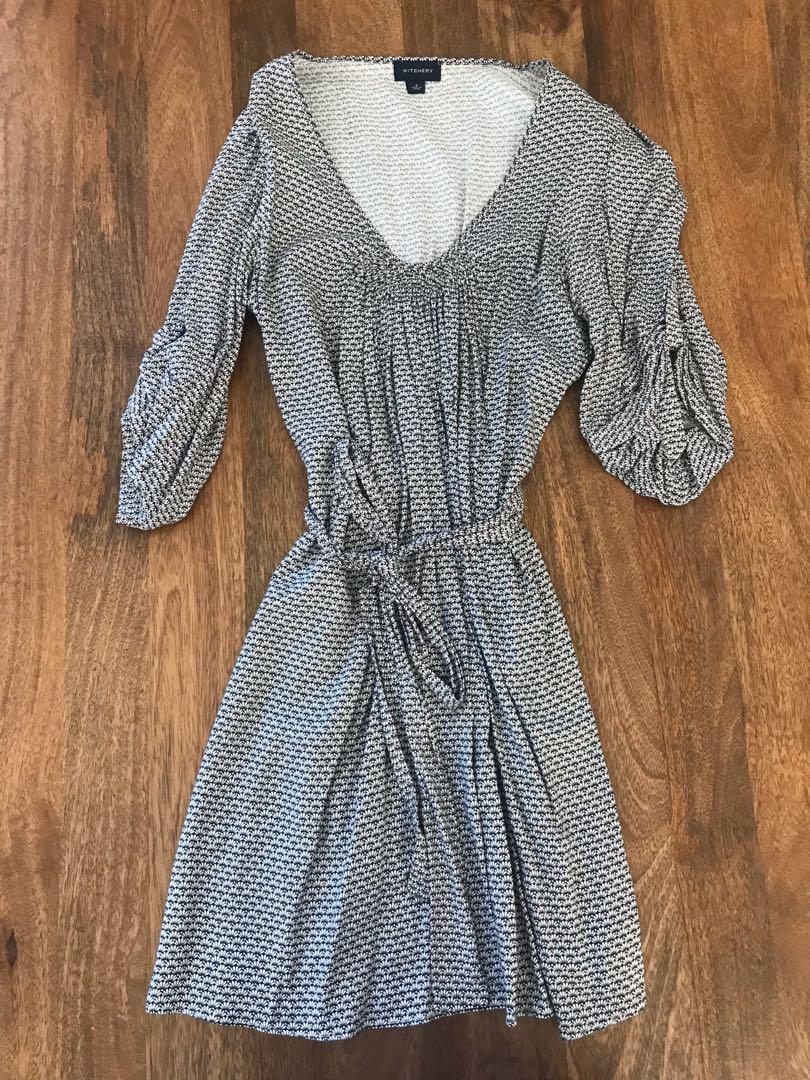 Witchery Dress Tunic stule with waist tie Size Small