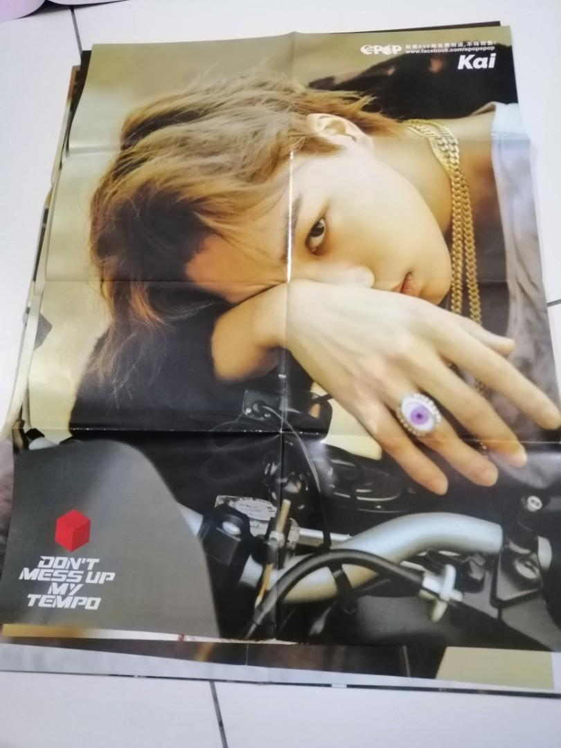 Wts exo ot9 don't mess up my tempo (tempo )and exo,love shot(ot8) poster