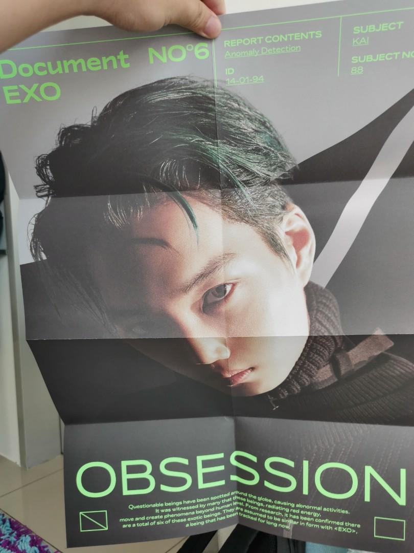 【WTT】KAI EXO OBSESSION X-EXO PHOTOCARD FOLDED POSTER