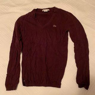 Maroon Lacoste sweater