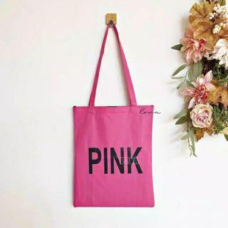 Totebag Tulisan Pink